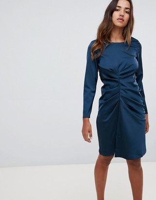 Closet London asymmetrical draped dress