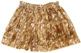 Anne Kurris Printed Silk Blend Velvet Skirt