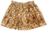 Printed Silk Blend Velvet Skirt