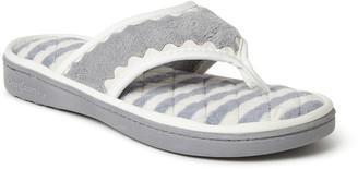 Dearfoams Women's Microfiber Terry Thong Slippers