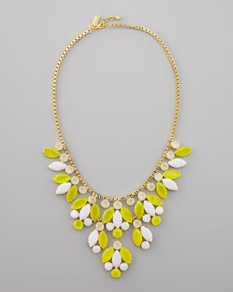 Kate Spade Crystal-Bib Necklace, Yellow