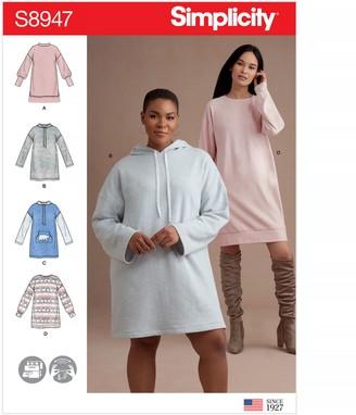 Simplicity Women's Sweatshirt Mini Dress Sewing Pattern, 8947