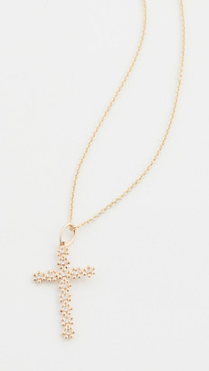 Sydney Evan 14k Tiny Daisy Cross Charm Necklace