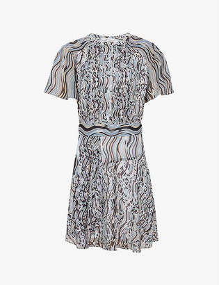 Reiss Mildred abstract-print woven dress