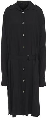 Ann Demeulemeester Belted Woven Shirt Dress