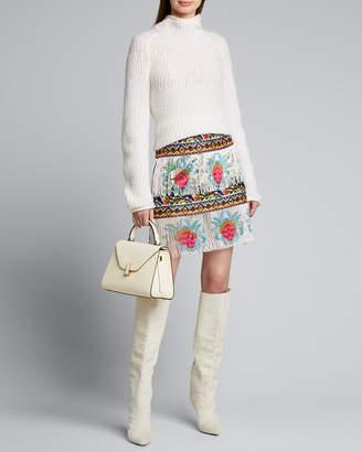 Camilla Beaded Embroidered Mini Skirt
