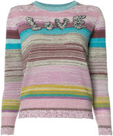 Marc Jacobs striped love jumper - women - Lyocell/Rayon/Wool/Metallic Fibre - L