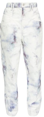 Isabel Marant Eloise Tie-dye Jeans - Blue White