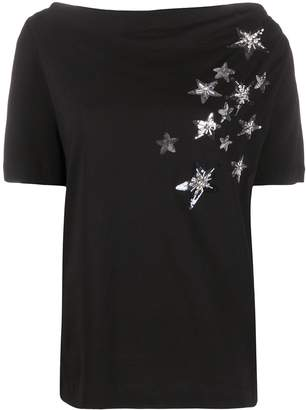 Liu Jo sequin-embellished star T-shirt