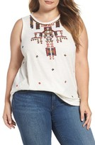 Lucky Brand Plus Size Women's Embellished Tank