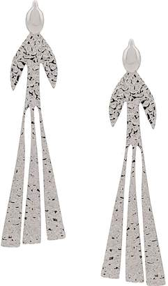J.W.Anderson foil style oversized earrings
