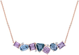 Bellini 14K 4.30 cttw Multi-Color Spinel & Diamond Necklace