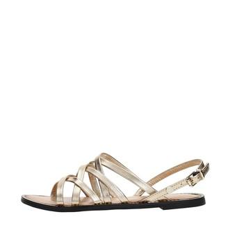 Tommy Hilfiger Women's Metallic Strappy Flat Sandal Ankle Strap