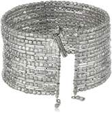 """Kenneth Cole New York Seed Bead Boost"""" Silver Seed Bead Coil Bracelet, 7.5"""""""