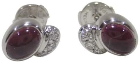 Georg Jensen 18K White Gold With Pink Tourmaline & Diamonds Carnival Earrings