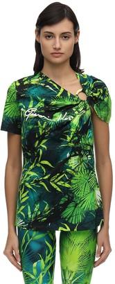 Versace Signature Jungle Print Jersey T-Shirt
