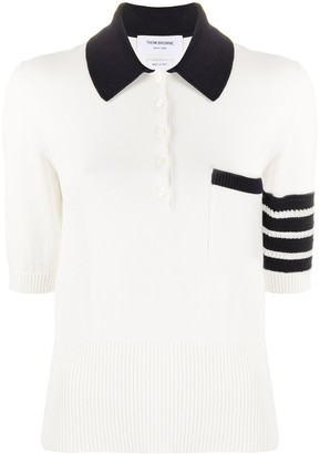 Thom Browne Hector Icon knitted polo shirt
