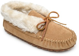 Sperry Women's Faux Fur Collar Suede Slippers -Junior Bootie