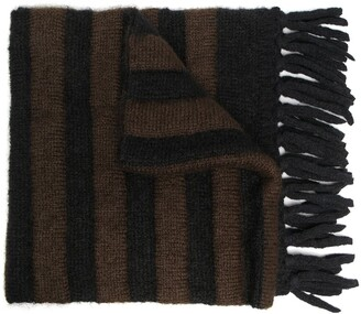 Moncler Striped Knitted Scarf