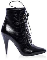 Saint Laurent Women's Laceup Point Toe Ankle Boot