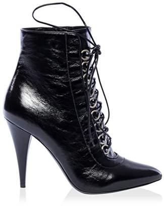 Saint Laurent Women's Laceup Point Toe Ankle Boot