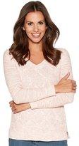 M&Co Cable knit V neck jumper