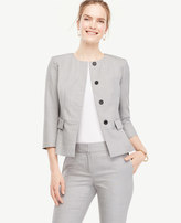 Ann Taylor Grisaille Peplum Jacket