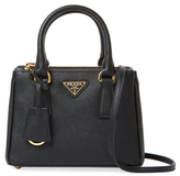 Prada Galleria Double Zip Micro Saffiano Leather Tote