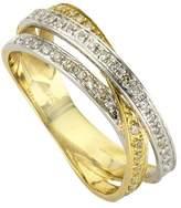Celesta Diamonds by Ellen K- 360370196-1 Ring Women's Earrings Yellow Gold 585/1000 14 carats 5.0 g Diamond white