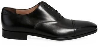 Salvatore Ferragamo Boston Cap Toe Leather Oxford Shoes