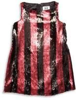 Milly Minis Toddler's, Little Girl's & Girl's Pailleté Striped Angular Shift Dress
