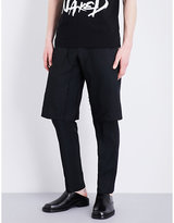 Comme Des Garcons Layered Mid-rise Twill Trousers