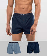 BOSS Woven Boxers 2 Pack in Regular Fit