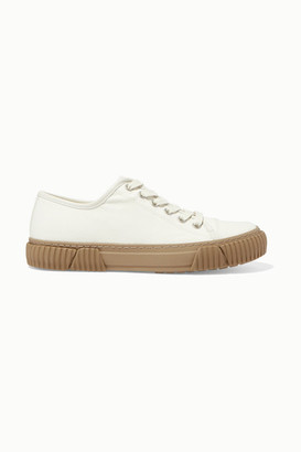 both Coated-canvas Sneakers - White