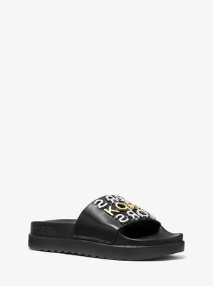 MICHAEL Michael Kors Tyra Embellished Slide Sandal