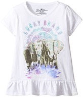 Lucky Brand Kids Short Sleeve Elephant Tee with Ruffle Hem (Little Kids)