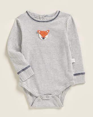 Baby Essentials Albetta (Newborn Boys) Crochet Fox Striped Bodysuit