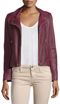 IRO Han Leather Moto Jacket, Wine