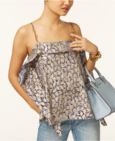 MICHAEL Michael Kors Aubrey Ruffled Tank Top, a Macy's Exclusive