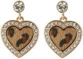 GUESS Framed Heart Drop Earrings