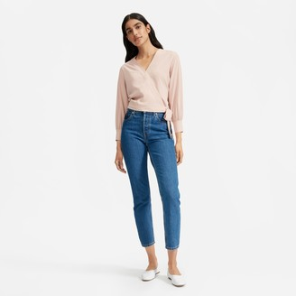 Everlane The Washable Silk Wrap Top
