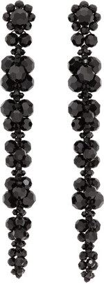 Simone Rocha Black Long Cluster Drip Earrings