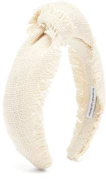 Lafayette House Of Loulou 9 Knotted Canvas Headband - Womens - White