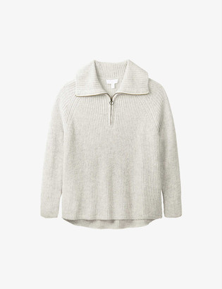 The White Company High-neck wool-blend jumper