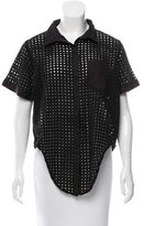 Jonathan Simkhai Short Sleeve Eyelet Top