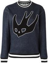 McQ by Alexander McQueen swallow woodcut sweatshirt