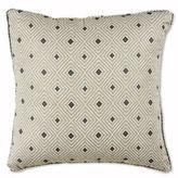 Ron Chereskin Diamond Stripe Square Throw Pillow in Taupe
