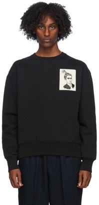 Ami Alexandre Mattiussi Black Anniversary Face Patch Sweatshirt