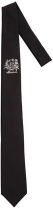 Alexander McQueen 7cm Logo Jacquard Silk Tie