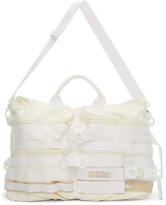 032c White adidas Originals Edition Logo Duffle Bag